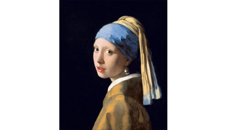 The pearl depicted in Vermeer's painting Girl with a Pearl Earring is most likely fake, or imaginary (Credit: Alamy)