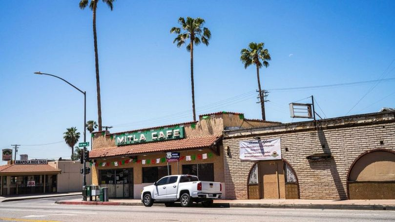 In 1937, Salvador and Lucia Rodriguez started selling hard-shell tacos at Mitla Cafe in San Bernardino, California (Credit: Ivana Larrosa)
