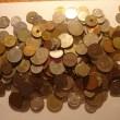 Monedas mundiales variadas al peso por continentes