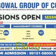 ADMISSIONS OPENS AT LONGOWAL GROUP OF COLLEGES