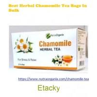 Buy Chamomile Herbal Tea Bags In Wholesale | Nutraorganix