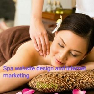 Spa massage center salon website design and online marketing@2999