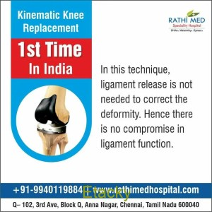 Kinematic Knee Replacement - First and Only Centre in India