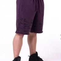 Nebbia Burgundy Raw Hem Street Shorts