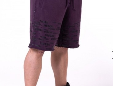 Nebbia Burgundy Raw Hem Street Shorts
