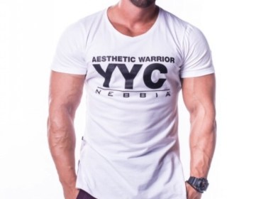 Nebbia White Athletic Logo T-Shirt