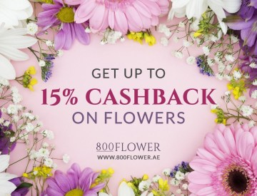 Get up to 15% cashback on Flowers with 800Flower.ae