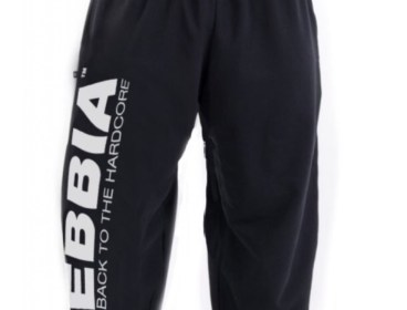 Nebbia Black Hard Core Fitness Sweatpants