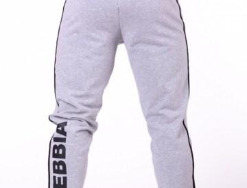 Nebbia Grey Side Stripe Retro Joggers