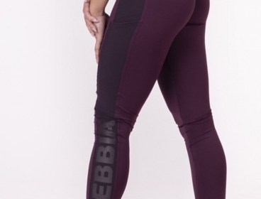 Nebbia Burgundy Flash Leggings