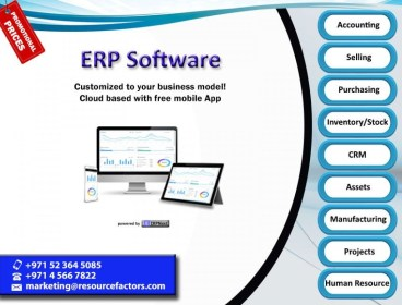 ERP Software. Cloud based & Customizable