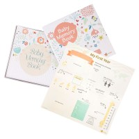 ehayas First 5 Years Baby Memory Book Journal with Wall Poster and Baby-safe Ink Pad