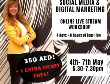 FREE extra ticket for Online Digital Marketing & Social Media workshop once you buy 1
