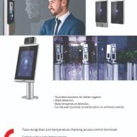 Face recognition & temperature checking access control terminals