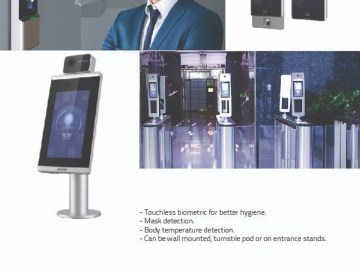 Face recognition & temperature checking access control terminals