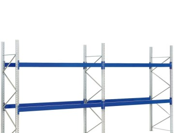 Pallet racking - complete units pallet weight 600 kg, bay width 2700 mm