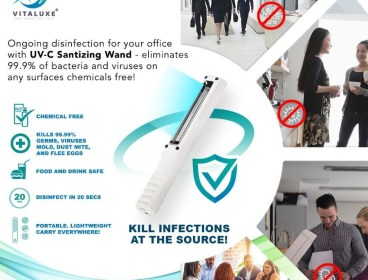OFFICE STAPLE: UV-C Sanitizing Wand - 99.9% disinfection rate in seconds. No chemicals or down time!!