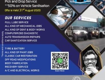 SUMMER SPECIALS! 50% on vehicle #SANITISATION