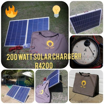 200Watt Solar Chargers for Camping
