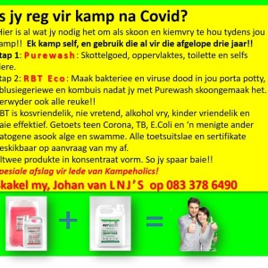 Safe camping after COVID and forever!