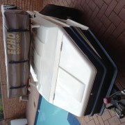 Trailer with rooftop tent