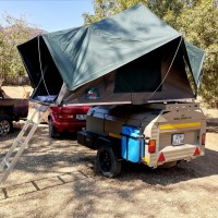 Camp master 210 trailer with tentco rooftop tent
