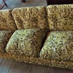 Canapé classique en tissu brocardé