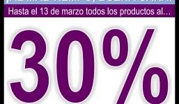 Cosmética Natural al 30% hasta el 30 de marzo