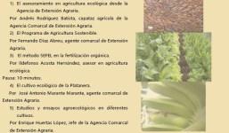 Jornada sobre el Programa de Agricultura Sostenible. Desarrollo de la agricultura ecológica desde el Cabildo de La Palma.