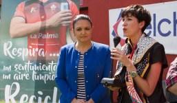Política Territorial del Gobierno de Canarias, el Club Deportivo Mensajero y Ecoembes fomentan el reciclaje entre la afición palmera.