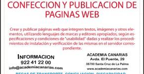 Últimas plazas: Confección y Publicación de Páginas Web