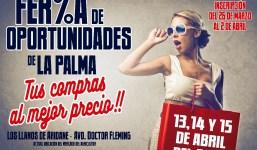 Sodepal abre el plazo para que los establecimientos comerciales participen en la Feria de Oportunidades de La Palma