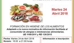 Manipulador de alimentos y gestíón de alergías e intolerancias alimentarias