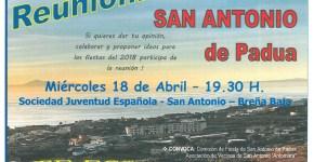 Reunión para la Fiesta de San Antonio