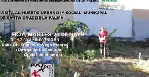 Visita al Huerto Urbano (Y Social) municipal de S/C de La Palma