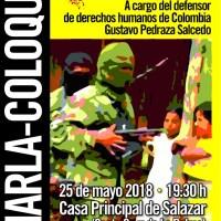 """Charla - Coloquio. """"Impunidad y guerra en tiempos de paz""""."""