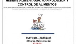 CURSO GRATUITO ONLINE: HIGIENE ALIMENTARIA.MANIPULACIÓN Y CONTROL DE ALIMENTOS