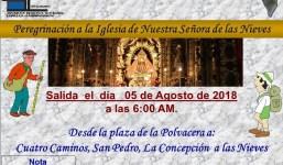 """La Polvacera y Antomara peregrinan a la """"Virgen de Las Nieves"""""""