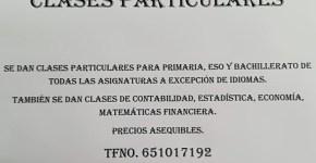 Clases particulares durante el curso
