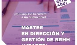 1º parte Máster en Dirección y Gestión de Recursos Humanos