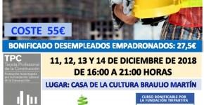 Curso TPC 20h Especialidad en Albañilería
