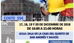 Curso de la TPC 20H Especialidad Albañilería