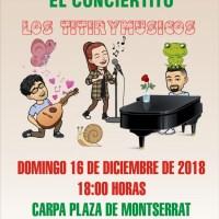 """Espectáculo Infantil """"El Conciertito"""" con la actuación del grupo Los Titirymúsicos en la Plaza de Montserrat en San Andrés y Sauces"""