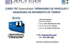 TPC Operadores de Vehículos y Maquinaria de Movimiento de Tierras