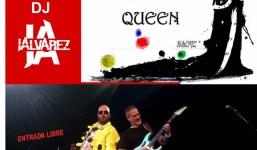 Tributo a Queen por el grupo A Kind of Magic en la Carpa instalada en la Plaza de Montserrat en San Andrés y Sauces