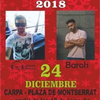 Fiesta de Nochebuena en la Carpa Instalada en la Plaza de Montserrat en San Andrés y Sauces