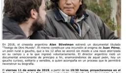 Proyección de una entrevista a un abducido argentino