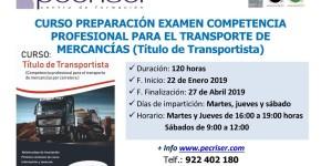 Curso Preparación Examen Competencia Profesional Transportista