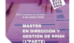 Máster en Dirección y Gestión de Recursos Humanos (1ª Parte)