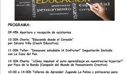 """Jornadas Familiares """"Educación y Disfrute"""" de Aprender Jugando"""